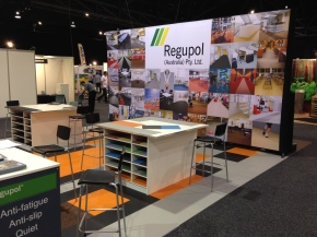 Regupol win Best Stand – Flooring & Finishes