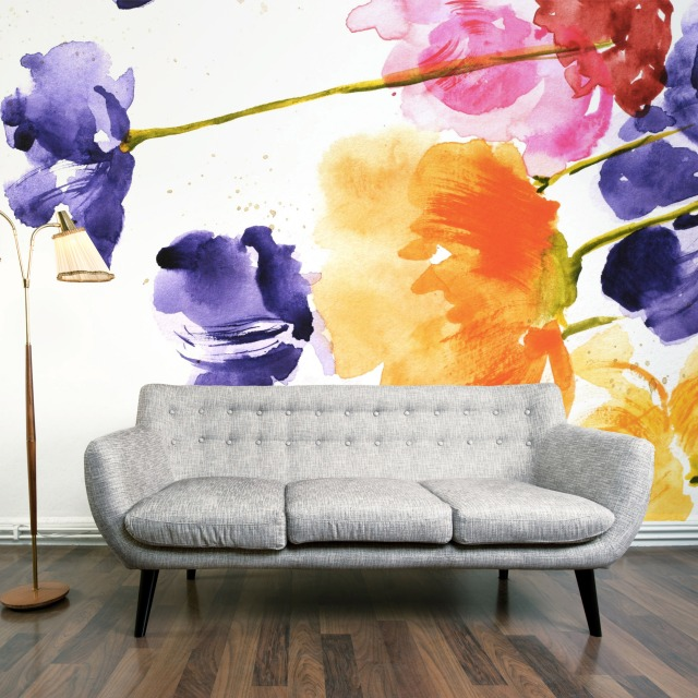 Multi-floral wall mural by Digitex Home (Credit: Digitex Home)