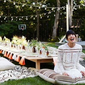 How to create a bohemian-style outdoor diningexperience