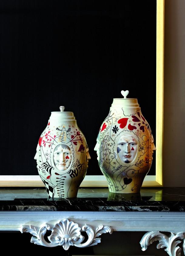 Conversation Vases by sculptor Marco Antonio Noguerón.