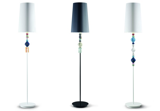 Lladro launched a collection of floor lamps in 2014.