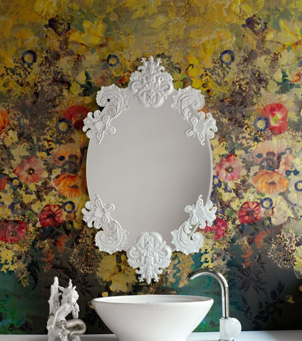 The Lladro collection includes a range of mirrors with and without frames.
