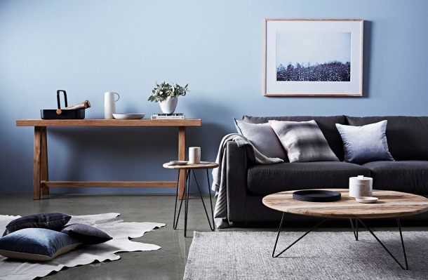 Globe West's Aspen collection and the Vittoria Luisa Sofa in Graphite. Picture: Mike Baker. Styling: Ruth Welsby