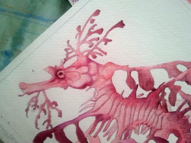 This Leafy Seadragon is a work in progress.
