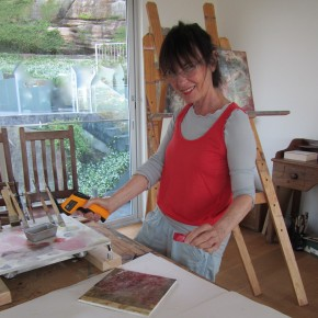 Artist Gill Cohn prepares for WallStreet
