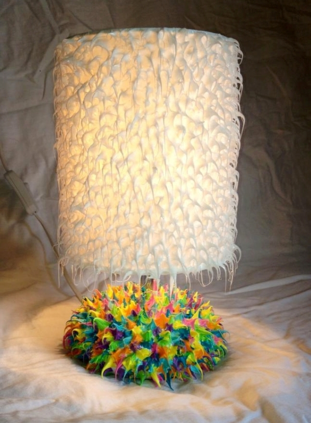 Bespoke silicone table lamp.